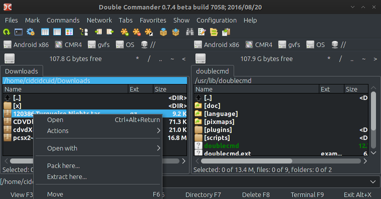 Double Commander - File manager that inspired by Total Commander -Archlinux