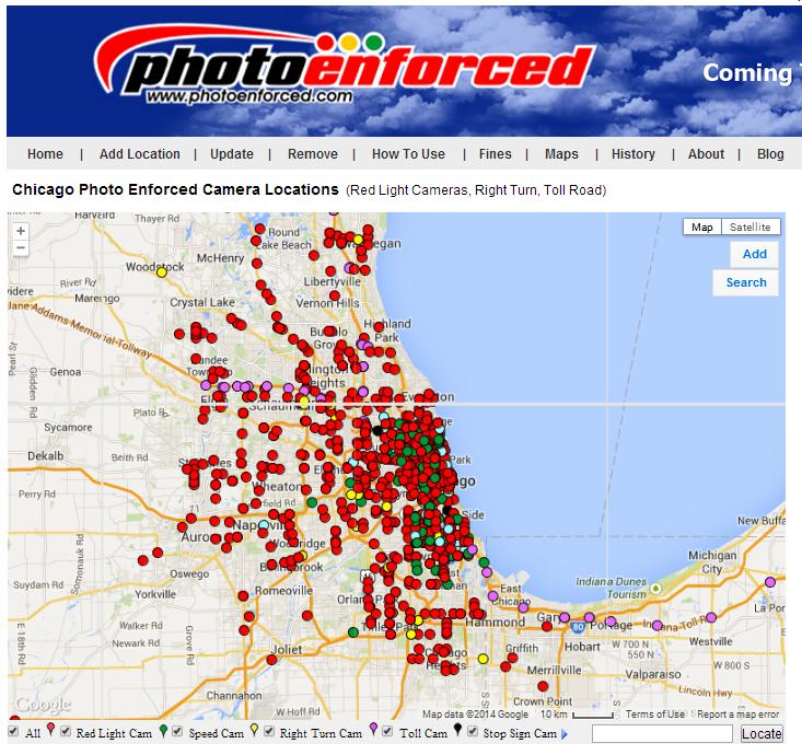 Chicago, Illinois   Speed Cameras, Red Light Cameras, Stop Sign Cameras U0026  Toll Road Cameras