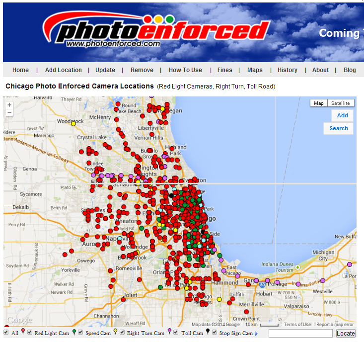 Chicago Red Light Camera Map Red Light Cameras Chicago Map | Campus Map