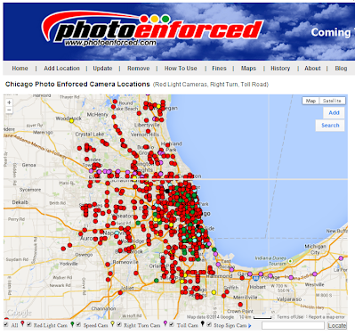 Chicago photo enforced map