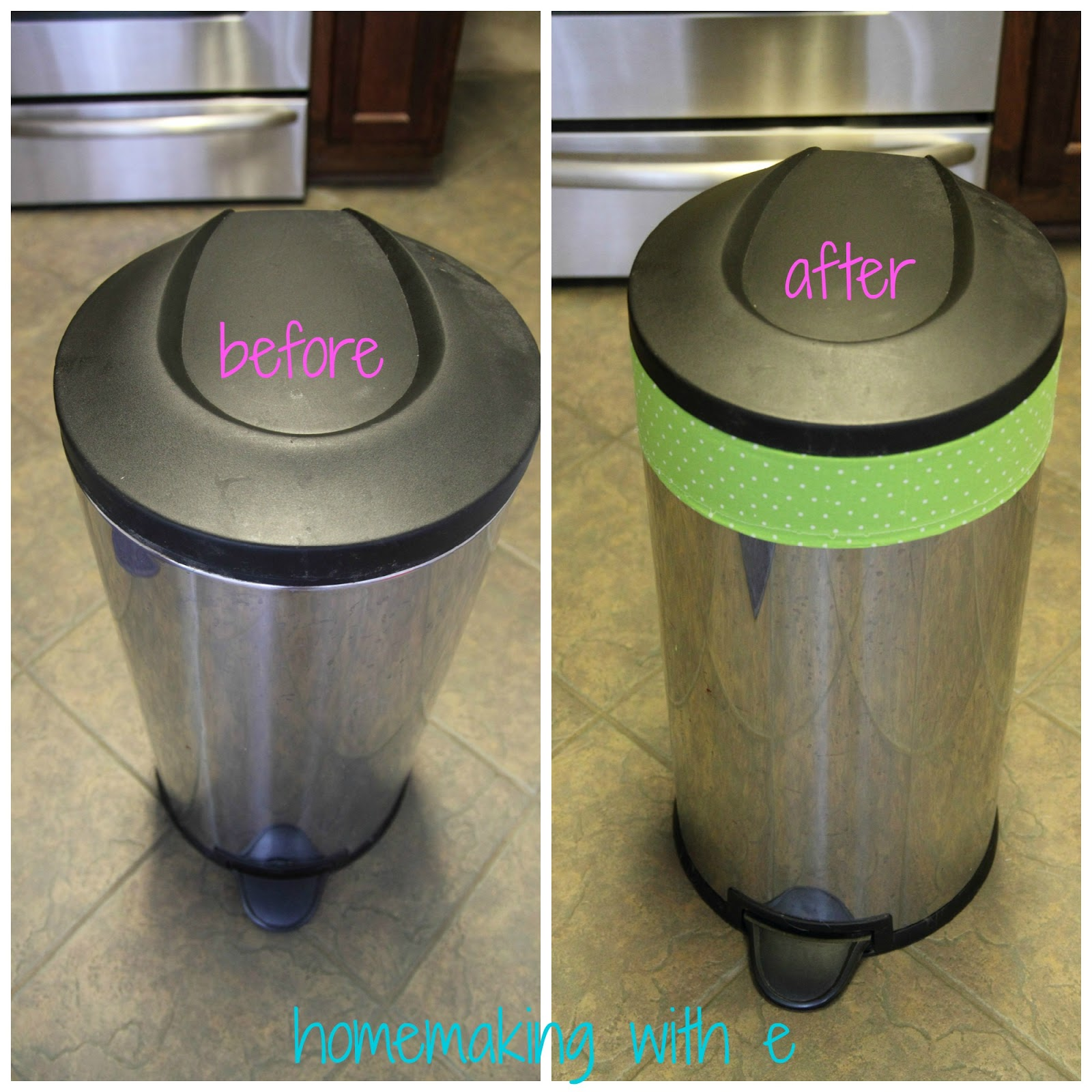Homemaking With E Repurposing An Old Trash Can As A Hamper