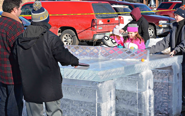 Ice Carving Ping Pong Table