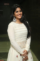 Megha Akash in beautiful White Anarkali Dress at Pre release function of Movie LIE ~ Celebrities Galleries 028.JPG