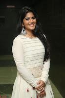 Megha Akash in beautiful White Anarkali Dress at Pre release function of Movie LIE ~ Celebrities Galleries 028.JPG