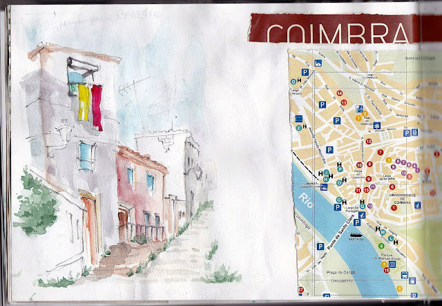 Coimbra streets sketch
