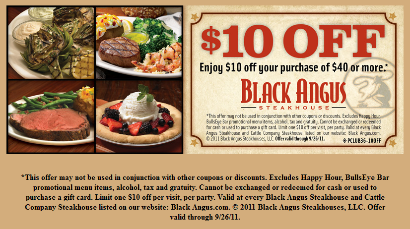Black Angus NFL Game Day Specials
