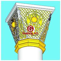 Desain ornamen pilar masjid nabawi