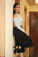 Manjusha in sleevelss crop top and black skirt at Darshakudu pre release ~  Exclusive Celebrities Galleries 043.JPG