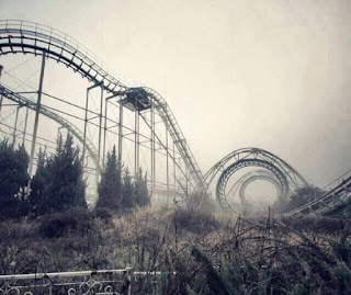 Roller coaster terbiar di Jepun.