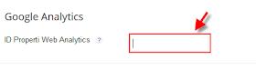 Memasang tracking ID google analitic pada blog