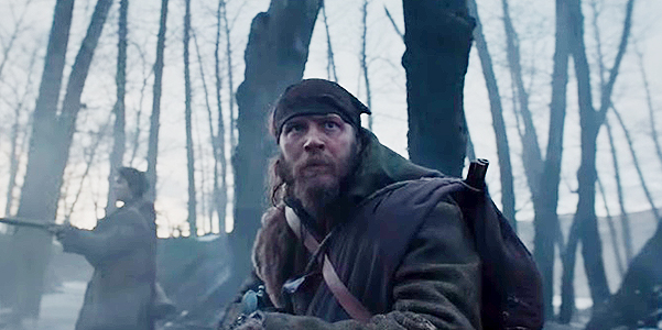 Leonardo DiCaprio and Tom hardy in Stills from the trailer