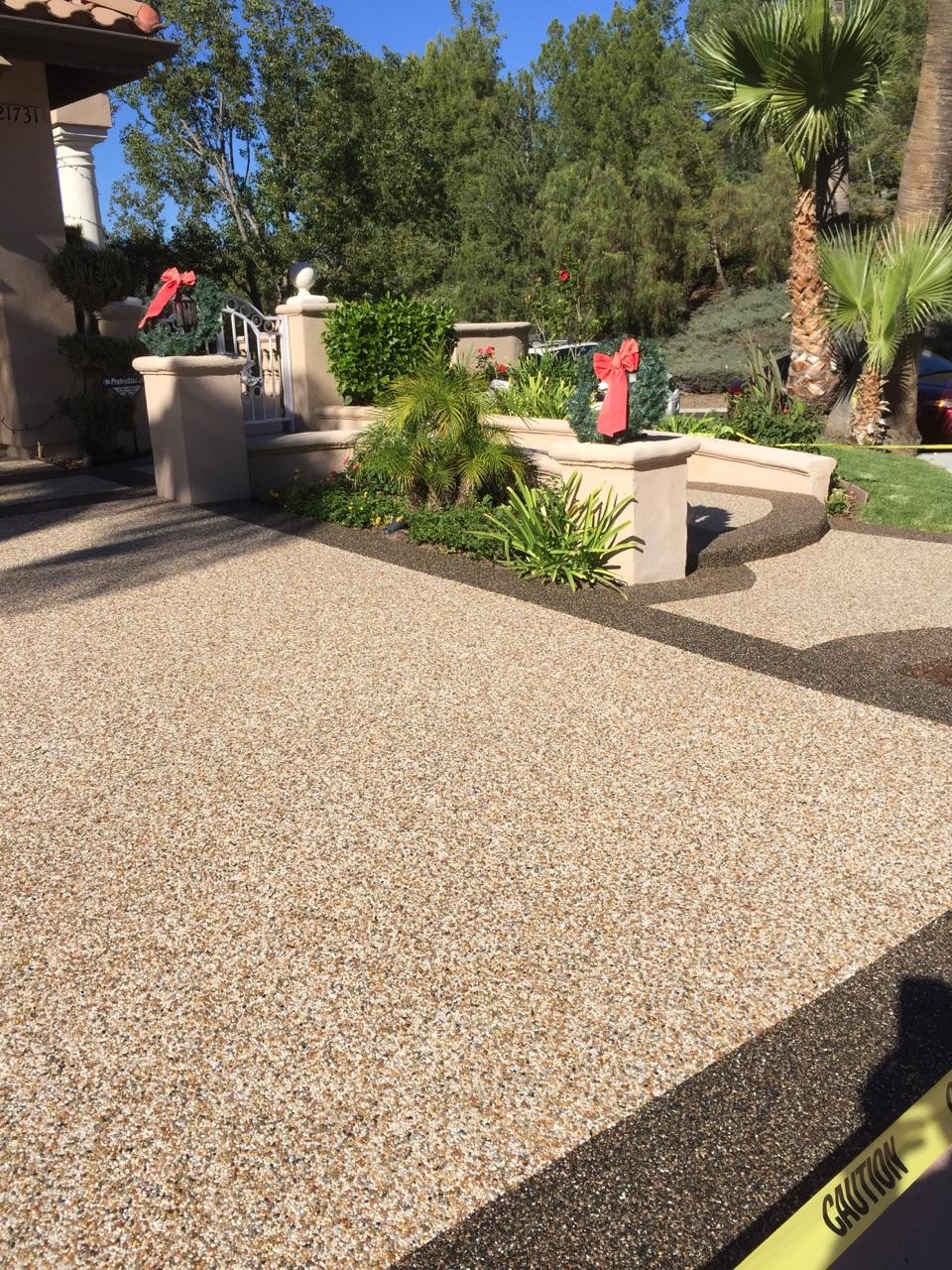 Epoxy Pebble Stone Concrete Resurfacing: Orange County ...