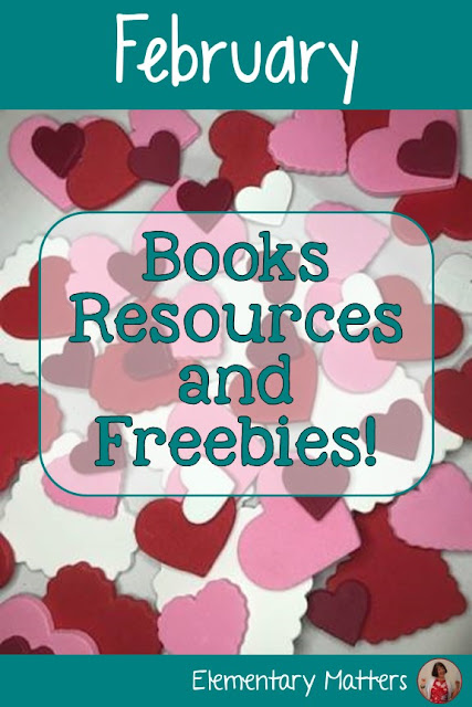 February Books Resources, and Freebies! February is a very busy month. This post has several books and resources to help keep the kids engaged!
