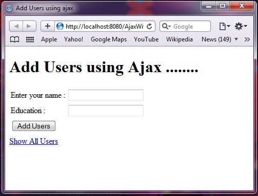 Ajax with Spring MVC 3 using Annotations and JQuery | Java