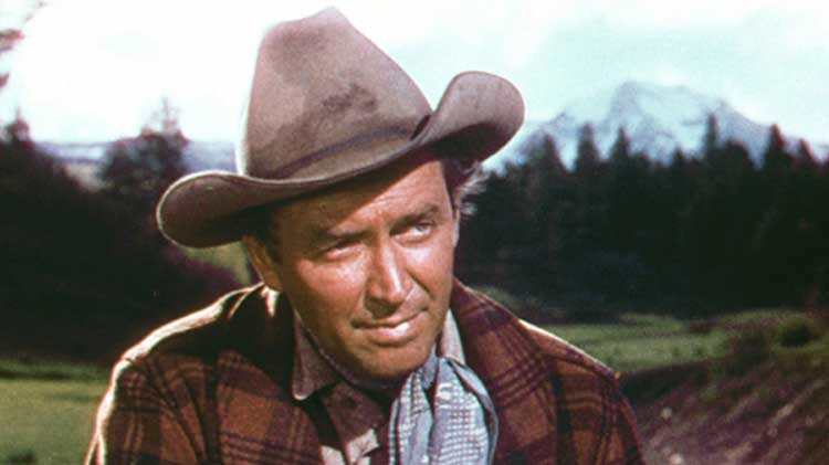 Jimmy Stewart stars in The Naked Spur.