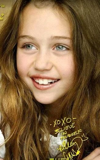 Foto a la cara de Miley Cyrus