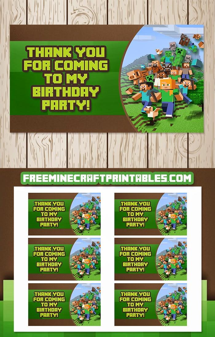 Free Minecraft Printables: Free Printable Minecraft Goody ...