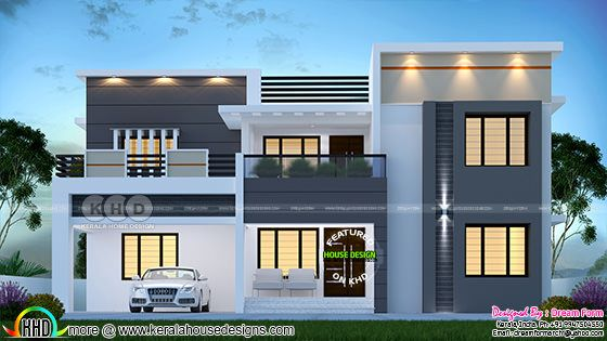 4 bedroom 2977 sq.ft modern home design