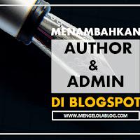 Cara Menambahkan Author dan Admin Blog