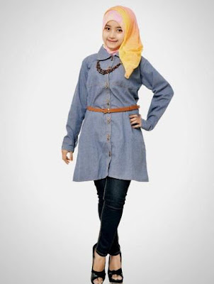 poto contoh jaket muslimah terbaru