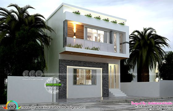 Modern box model house plan