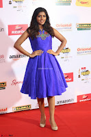 Eesha in Cute Blue Sleevelss Short Frock at Mirchi Music Awards South 2017 ~  Exclusive Celebrities Galleries 078.JPG