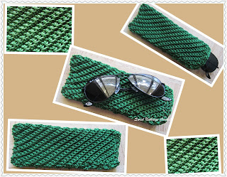 free crochet pattern, free crochet spectacle case