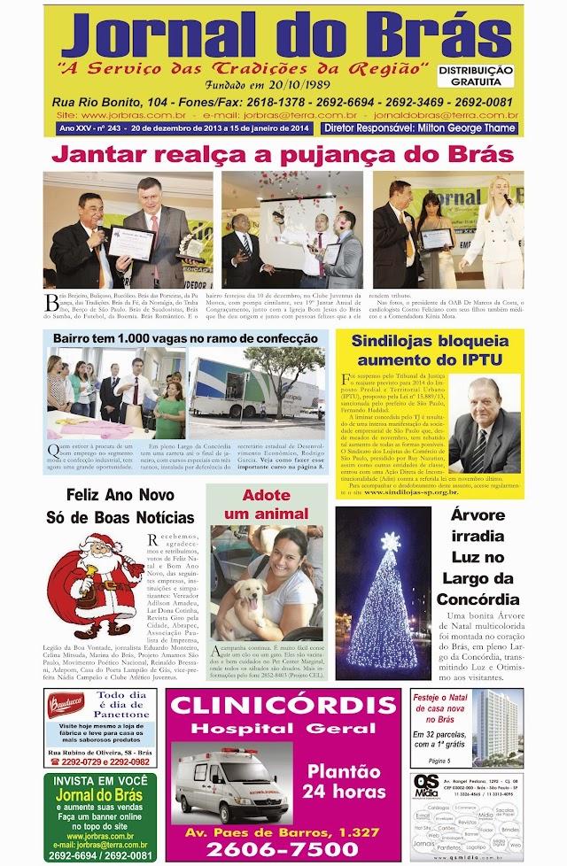 Destaques da Ed. 243 - Jornal do Brás
