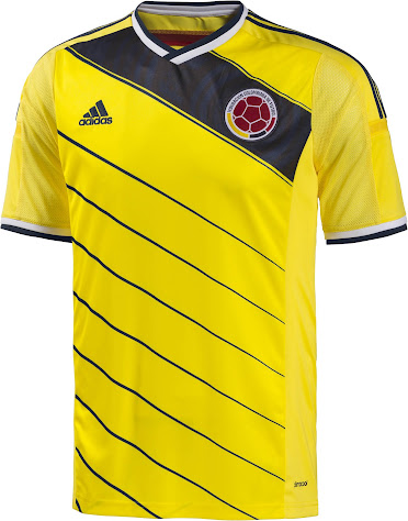 Colombia 2014 World Cup Kits Released - Footy Headlines 55bdae553