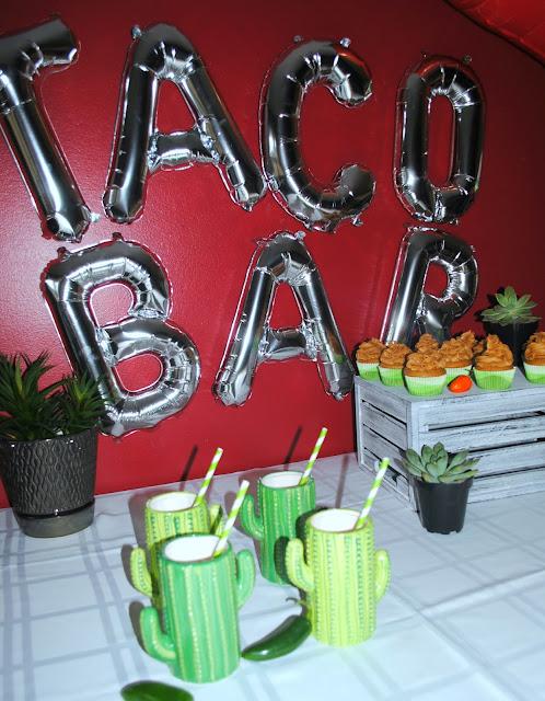 Taco - Bar- Churro - cupcakes - Party - inspiration