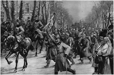 австро-венгерская армия входит в Белград.