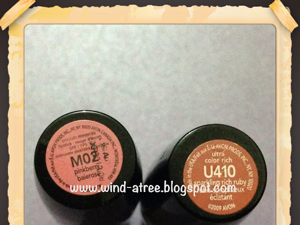 [Review] Avon lipstick in M02 and U410