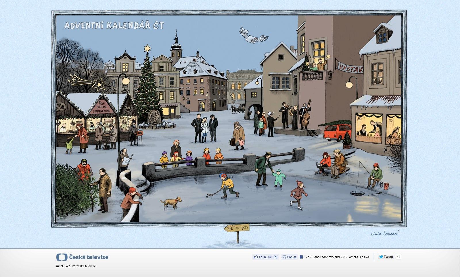 adventni kalendar 2012 Lucie Lomová: Adventní kalendář České televize adventni kalendar 2012