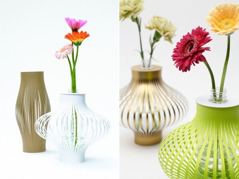 Eco Friendly Recycled Flower Vase Japanese Designer