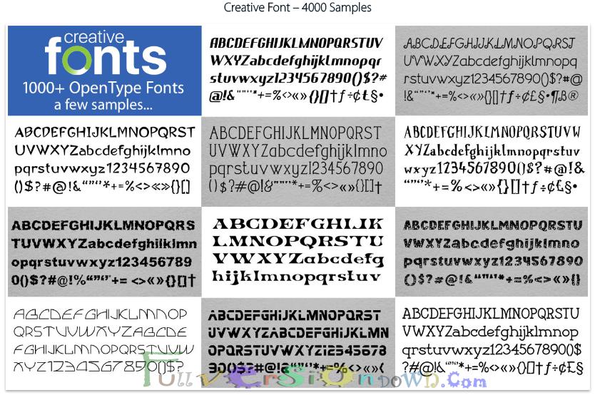 Summitsoft Creative Fonts 4000 1.0.0 Latest