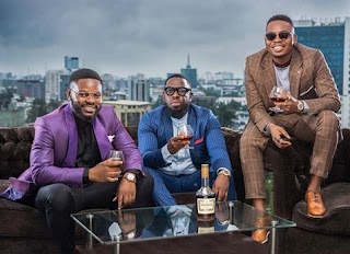 Photos Of Timaya, Falz And Olamide