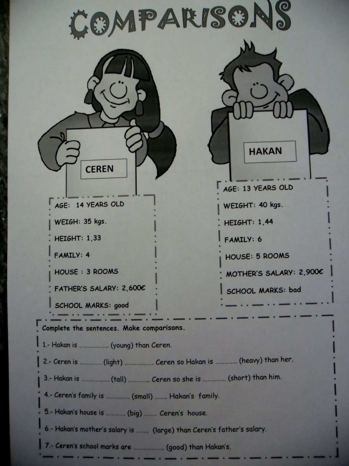 Burcu S World Comparatives And Superlatives Lesson Plan