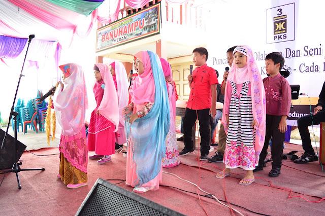 Atraksi Anak Kader Ramaikan Acara Puncak Porseni PKS Kota Medan Cada 1