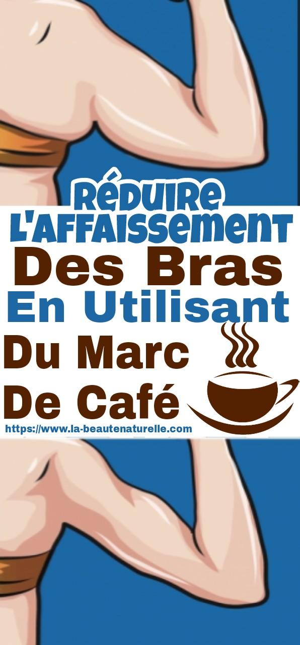 Réduire l'affaissement des bras en utilisant du marc de café