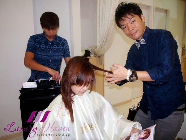naoki yoshihara ash japanese hair salon styling review
