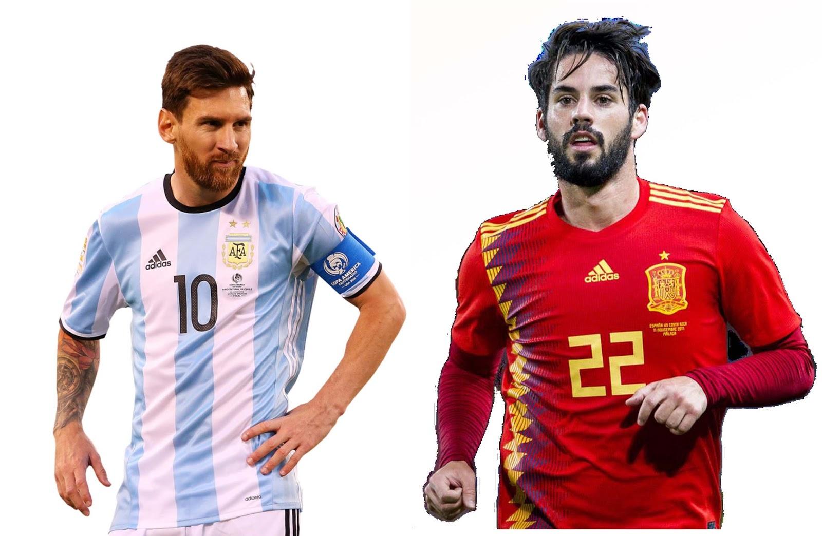 Spanyol vs Argentina,