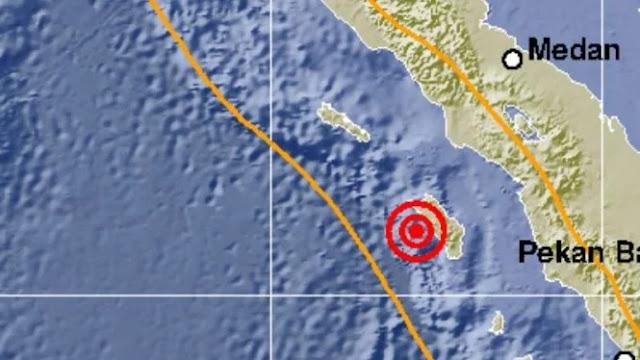 Gempa 5,2 SR Guncang Nias Barat