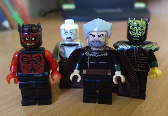 Darth Maul, Assajj Ventress, Gount Dooku and Savage Opress, separatists Clone Wars Star Wars art
