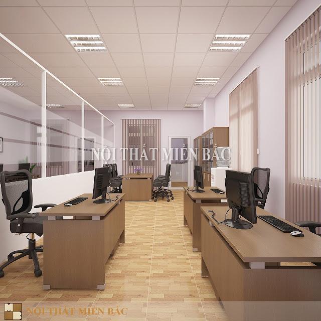 Thiết kế nội thất văn phòng sử dụng vách ngăn di động giúp chúng ta phân chia không gian làm việc linh hoạt đồng thời giúp tiết kiệm tối đa diện tích không gian