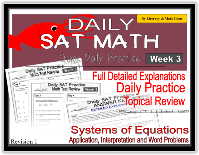 Daily SAT Math Practice - Week 3: Systems of Equations