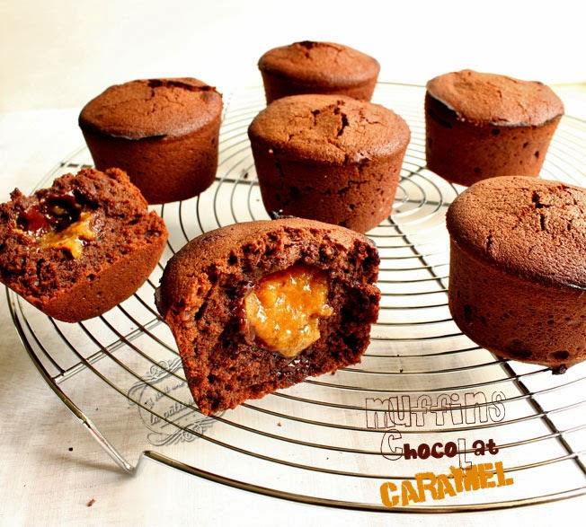 muffins chocolat caramel