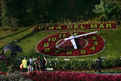 Reloj de Flores (Flower Clock), Viña del Mar, Chile.