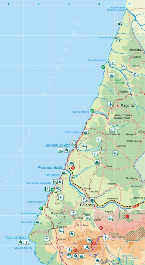 praias de sintra mapa Tudo sobre Sintra: Três das cinco zonas balneares de Sintra têm  praias de sintra mapa
