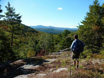 Looking out at Gore Mountain from the overlook on Meade Mountain, Sunday 09/25/2016.  The Saratoga Skier and Hiker, first-hand accounts of adventures in the Adirondacks and beyond, and Gore Mountain ski blog.