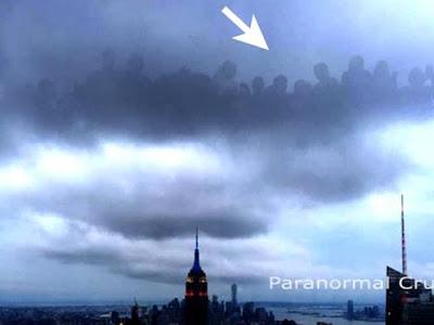 Seres de outras dimensões são filmados sobre Nova Iorque